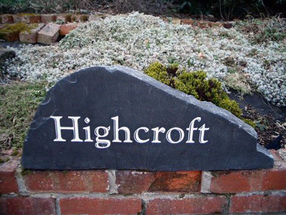 Free Standing Engraved Stone Sign