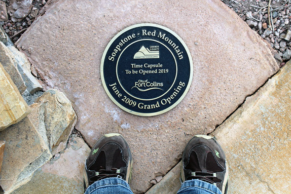 Metal Time Capsule Plaque