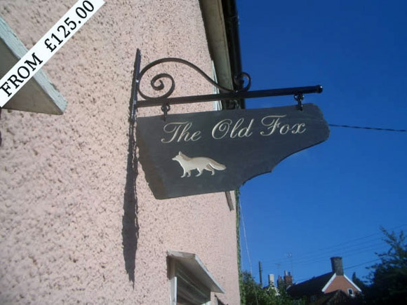 pub sign with bracket