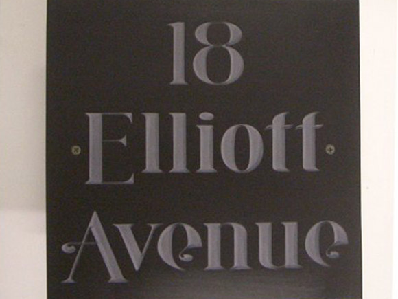 contemporary address sign