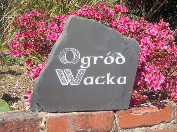 natural slate house sign