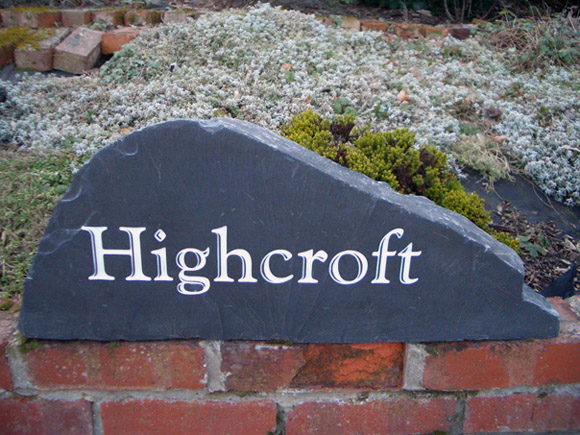 upright slate sign