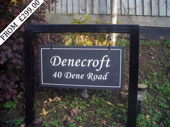 thick hone slate sign