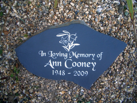 memorials on gravel
