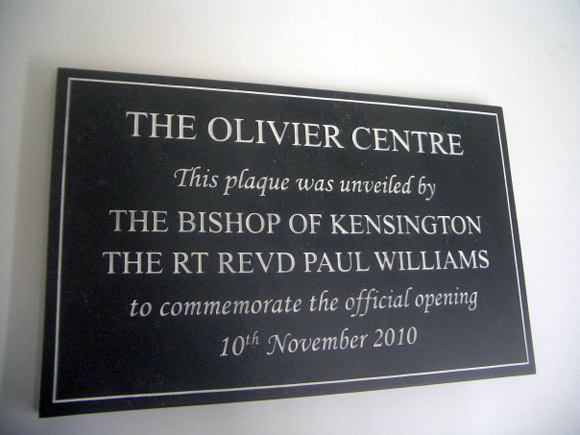 commemorate opening plaque