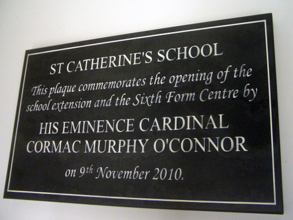 plaque for school extension