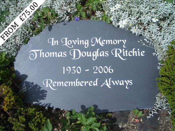 memorial slate plaques and headstones