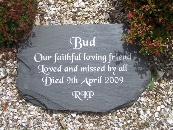 plaque on gravel
