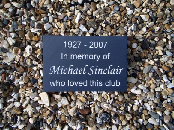 Small Memorial Plaque on Gravel Garden
