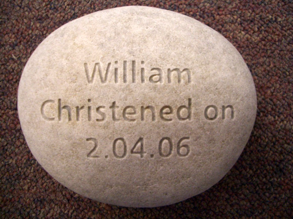christening stone