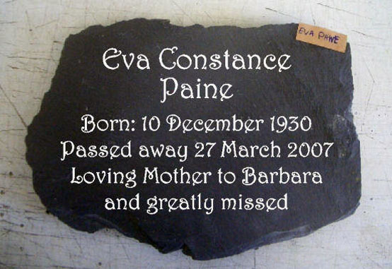 slate memorial plaque