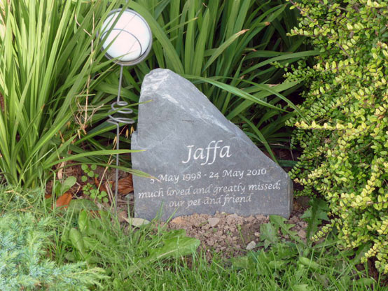 slate memorial headstone
